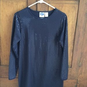 Sparkly navy tunic or dress.